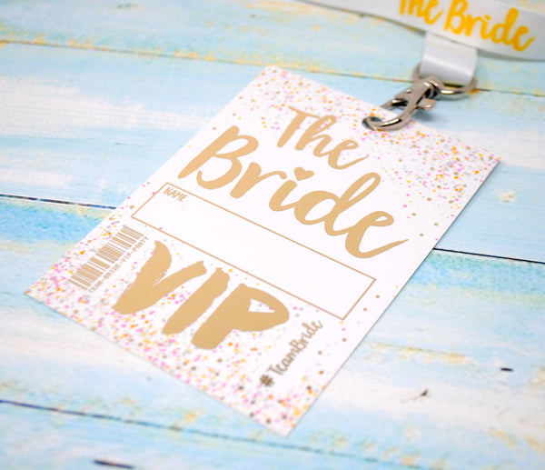 bride to be hen night vip pass lanyard