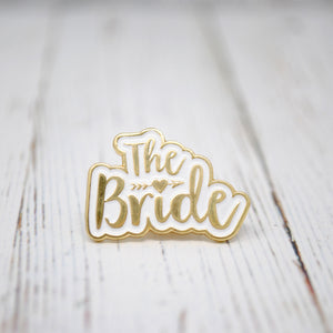 The Bride Wedding Day / Hen Party Enamel Pin Lapel Badge