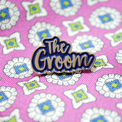 The Groom Wedding Day / Stag Party Enamel Pin Lapel Badge
