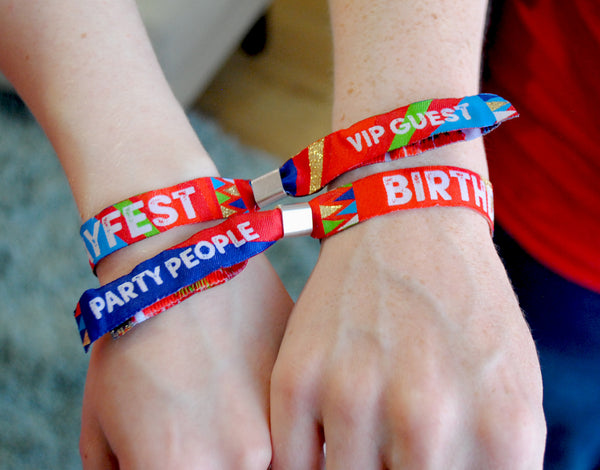 festival birthday party wristband favours