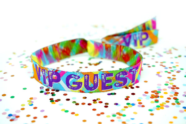 vip guest woven fabric festival security wristbands.