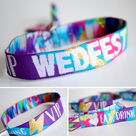 wedfest festival wedding wristband