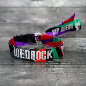 wedrock festival rock n roll wedding wristbands favours