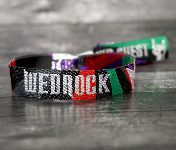 wedrock rock n roll wedding wristbands