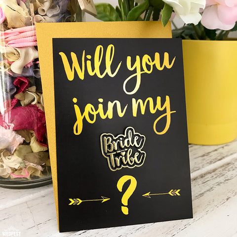 Will you join my Bride Tribe Card and Badge