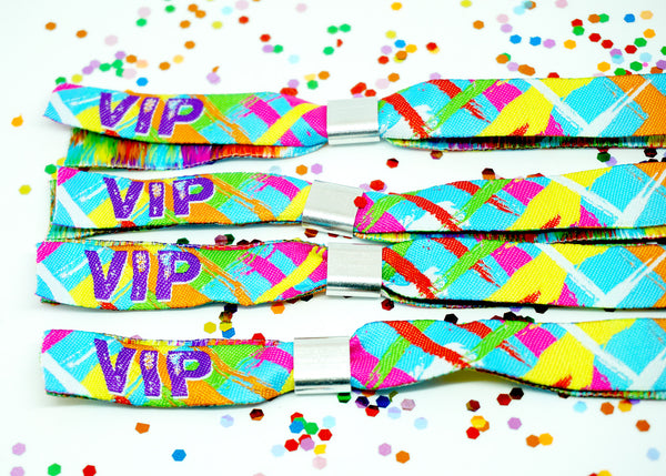 woven fabric vip guest festival party security wristbands