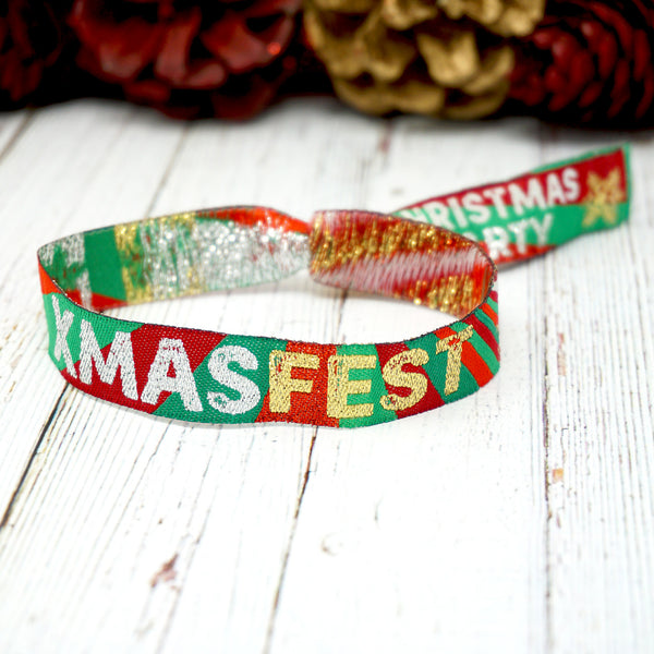 xmasfest christmas party at home festival wristbands