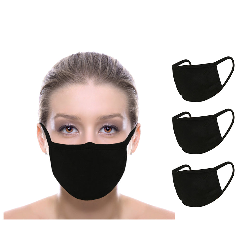 Washable Reusable Face Cover Mouth Cover, Unisex (In Stock) 3 Pack - Made In USA - Duplicator Depot