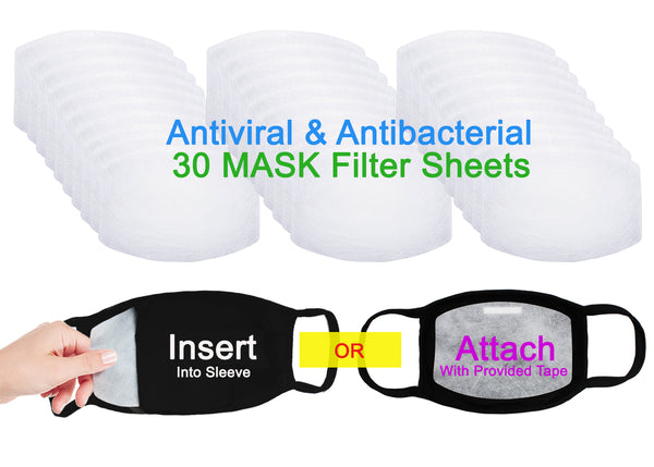 Amba7 MADE IN USA Reusable Breathable Cloth Face Mask - Machine Washable, Non-Surgical Double Layer Anti-Dust Protection, Unisex - For Home, Office, Travel, Camping or Cycling (BLACK 3-Pack With Filters (30 PCS)) In Stock