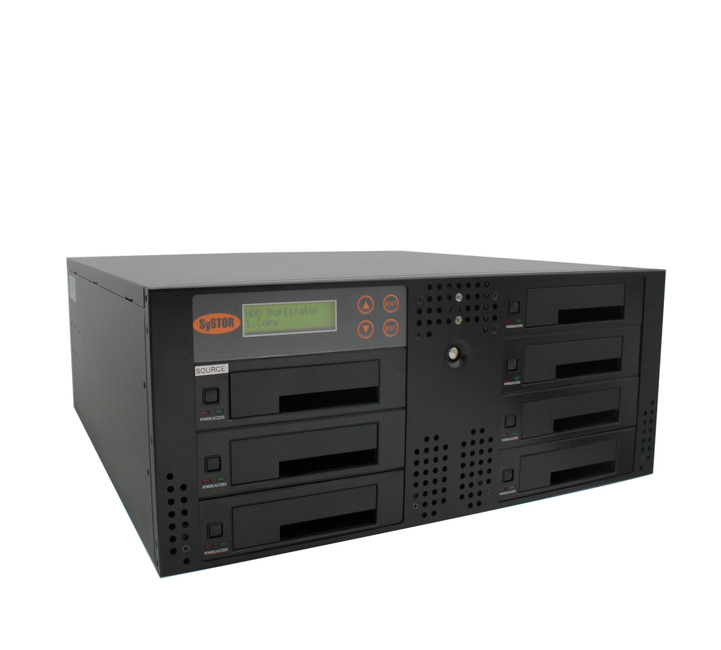 Systor 1 to 6 SATA 90MB/S Rackmount Hard Disk Drive / Solid State Drive (HDD/SSD) Duplicator & Sanitizer (SYS106RMHDD-DP)