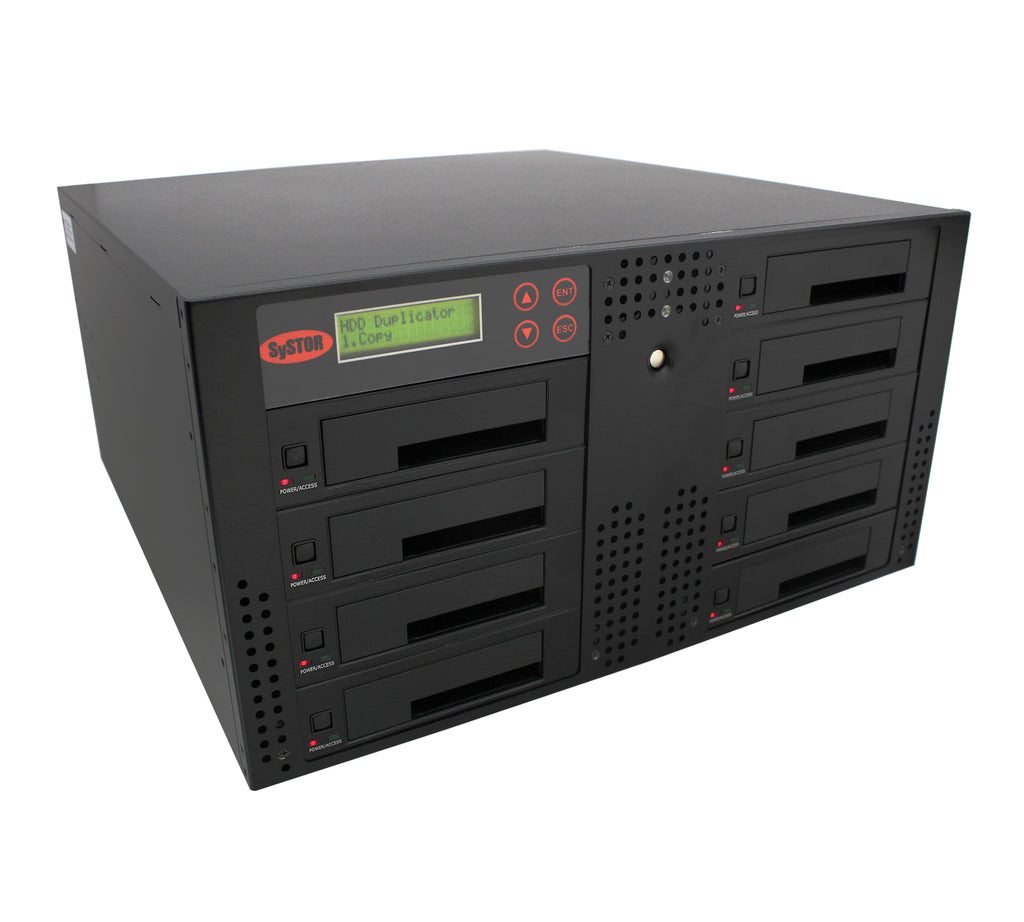 Systor 1 to 8 SATA 300MB/S Rackmount Hard Disk Drive / Solid State Drive (HDD/SSD) Duplicator & Sanitizer (SYS308RMHDD-DP)