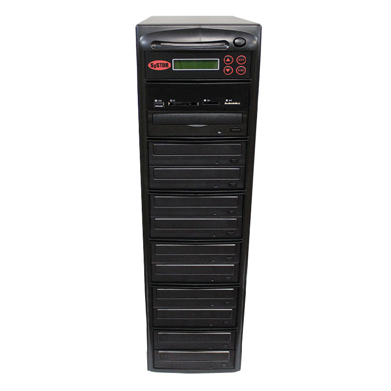 Systor MultiMedia Center - Flash Memory Drive (USB/SD/CF/MS/MMC) to Disc Backup + 1 to 10 SATA CD/DVD Duplicator - Duplicator Depot