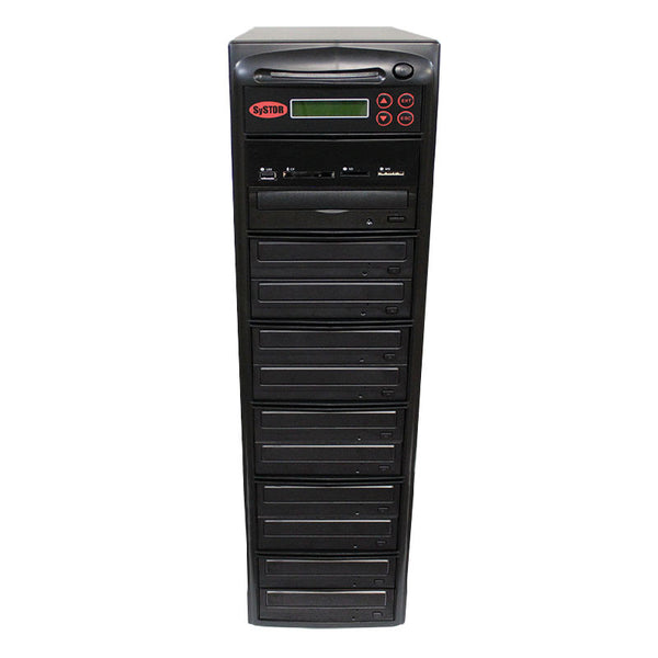 SySTOR 1:10 CD DVD Duplicator + USB/SD/CF to Disc Copier Tower (MBC-10)