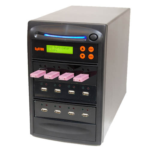 SySTOR 1:11 Multiple USB Thumb Drive Duplicator / USB Flash Card Sanitizer - (SYS-USBD-11) - Duplicator Depot