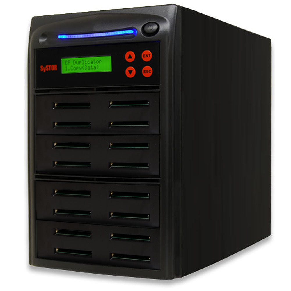 SySTOR 1:15  Multiple Compact Flash CF Memory Card Duplicator / Sanitizer - (SYS-CFD-15) - Duplicator Depot