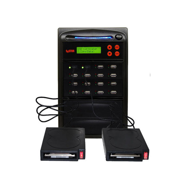 Systor 1 to 15 HDD/SSD Duplicator for Portable USB-Powered External Hard Drives & USB Flash Drives - SYS15EXH - Duplicator Depot
