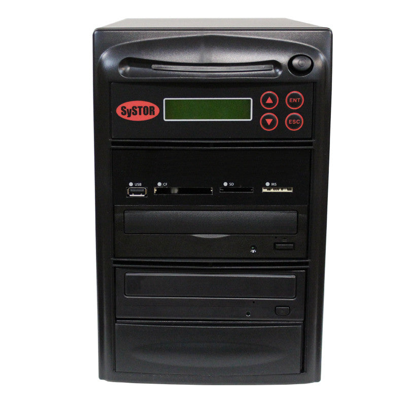 Systor MultiMedia Center - Flash Memory Drive (USB/SD/CF/MS/MMC) to Disc Backup + 1 to 1 SATA Blu-Ray Duplicator - Duplicator Depot