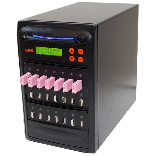 Systor 1 to 20 Multiple USB Thumb Drive Duplicator & Sanitizer (up to 2GB Per Minute) - SYS-USBD-20 - Duplicator Depot