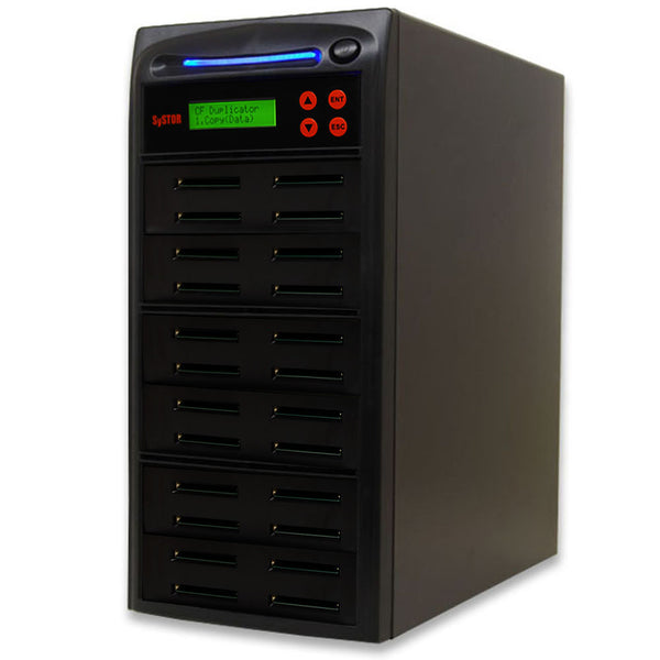SySTOR 1:23  Multiple Compact Flash CF Memory Card Duplicator / Sanitizer - (SYS-CFD-23) - Duplicator Depot