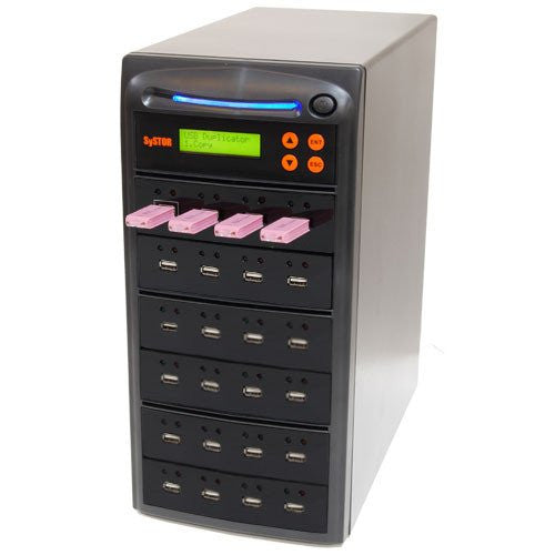 Systor 1 to 23 Multiple USB Thumb Drive Duplicator & Sanitizer (up to 2GB Per Minute) - SYS-USBD-23 - Duplicator Depot