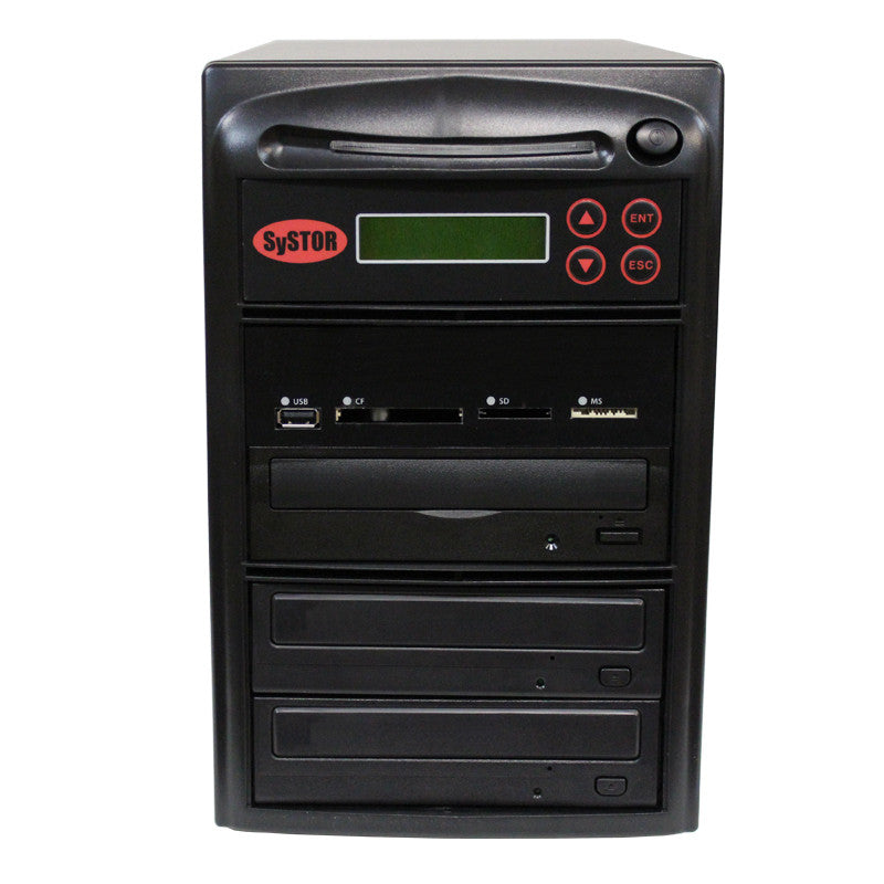 SySTOR 1:2 CD DVD Duplicator + USB/SD/CF to Disc Copier Tower (PMBC-2) - Duplicator Depot