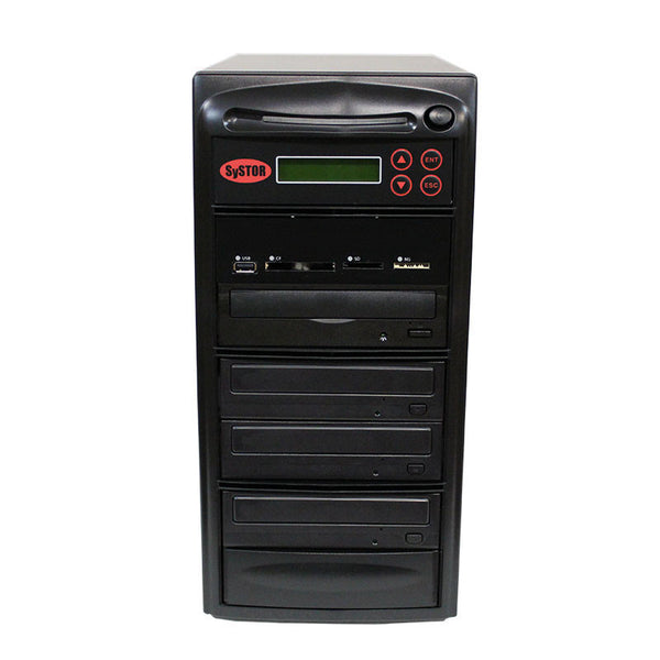 SySTOR 1:3 Blu-ray Duplicator + USB/SD/CF to Disc Copier Tower (BD-MBC-3)