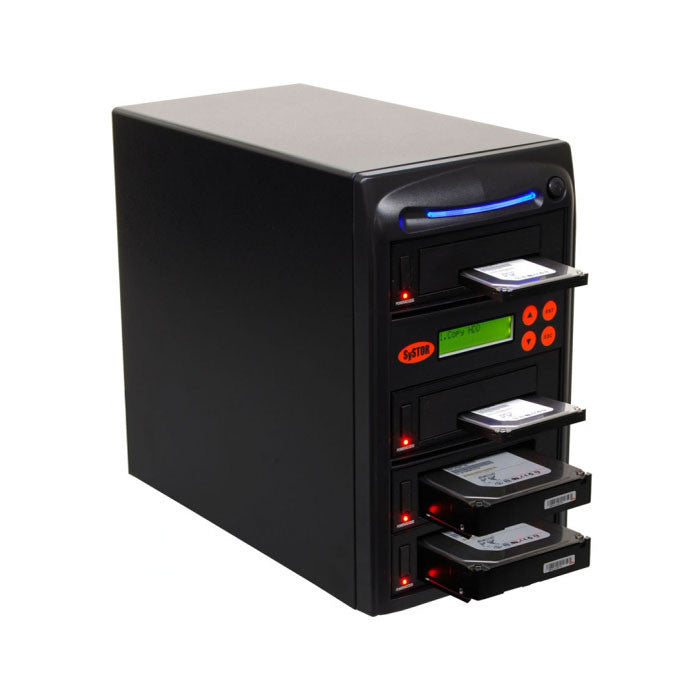 "SySTOR 1:3 SATA 2.5"" & 3.5"" Dual Port/Hot Swap Hard Disk Drive / Solid State Drive (HDD/SSD) Clone Duplicator/Sanitizer - High Speed (150MB/sec) (SYS203HS-DP) - Duplicator Depot"