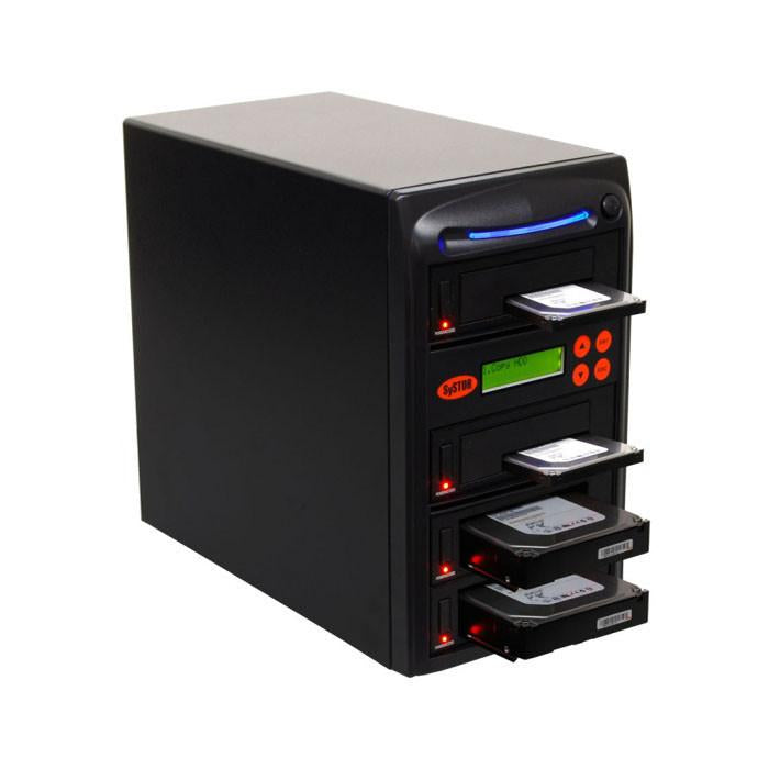 "SySTOR 1 to 3 SATA 2.5"" & 3.5"" Dual Port/Hot Swap Hard Disk Drive / Solid State Drive (HDD/SSD) Duplicator/Sanitizer - High Speed (600MB/sec) (SYS603DP) - Duplicator Depot"