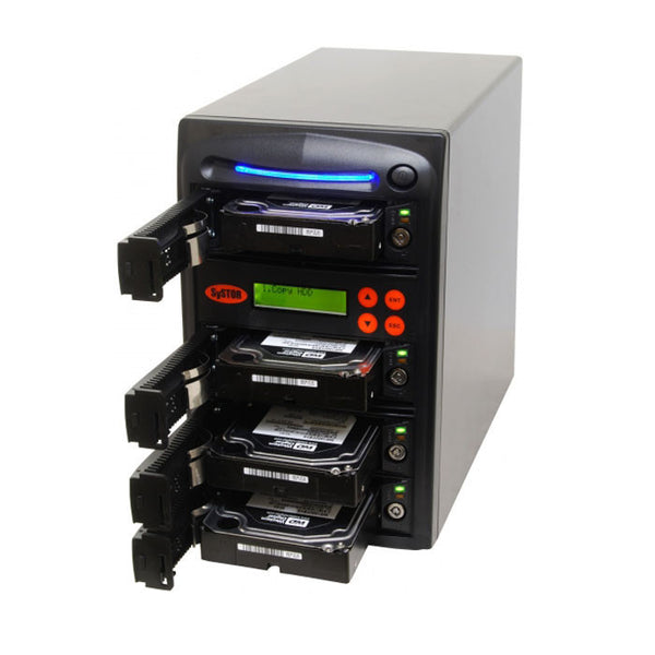 SySTOR 1:3 SATA Hard Disk Drive / Solid State Drive (HDD/SSD) Clone Duplicator/Sanitizer - High Speed (300MB/sec) (SYS303EL) - Duplicator Depot
