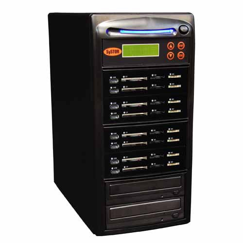 SySTOR 1:7 USB/SD/CF All in One Combo Flash Memory Card Duplicator - (SYS-USBSDCF-07) - Duplicator Depot