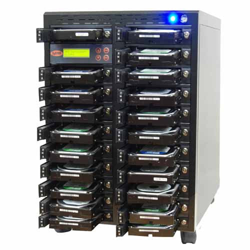 SySTOR 1:20 SATA Hard Disk Drive / Solid State Drive (HDD/SSD) Clone Duplicator/Sanitizer - High Speed (150MB/sec) (SYS2020HS) - Duplicator Depot