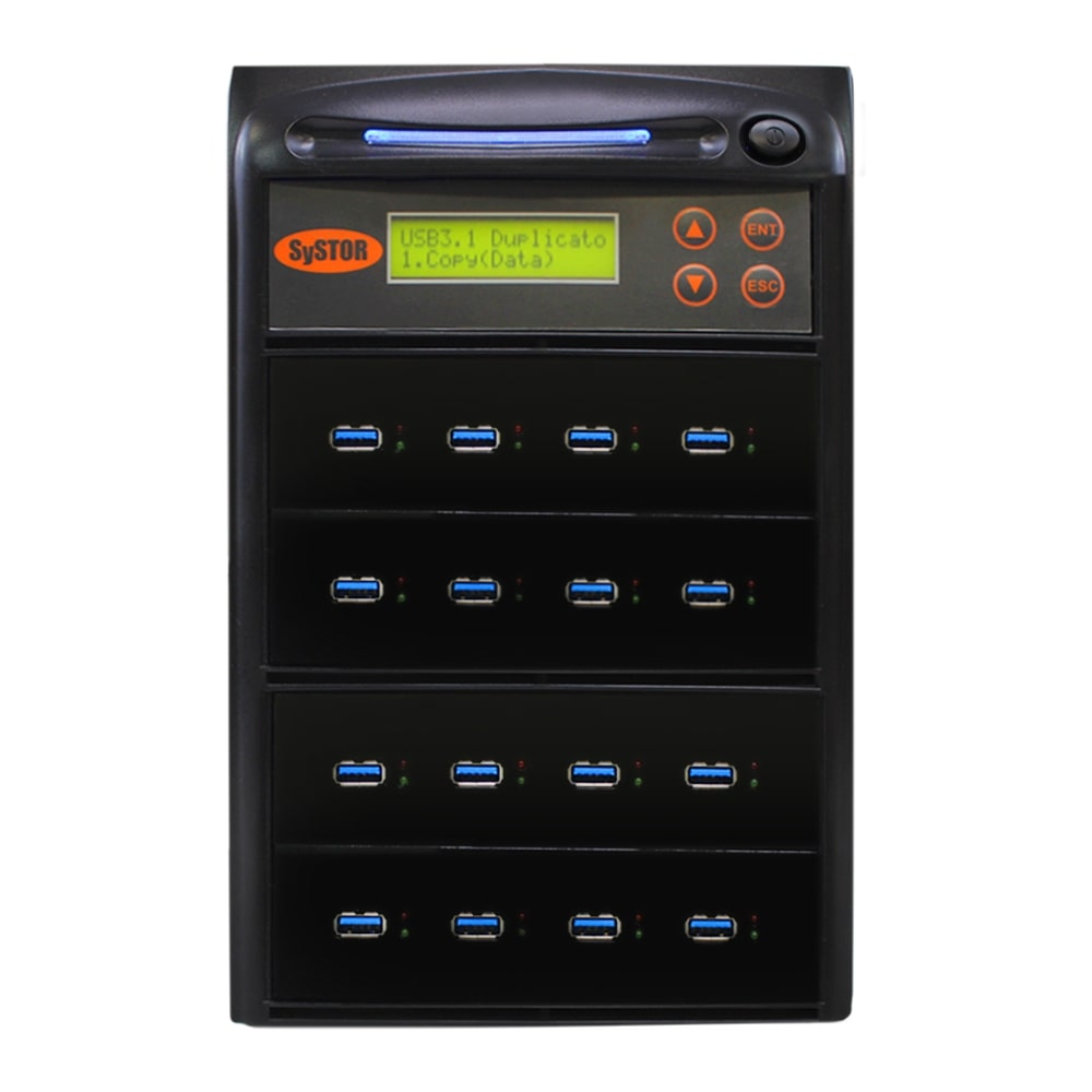 Systor 1:15 USB 3.1 300MB/s Flash Drive Duplicator - (SYS-USB30-15) - Up to 18GB per minute - Duplicator Depot