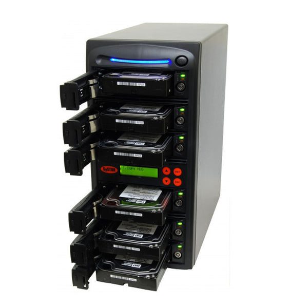 SySTOR 1:5 SATA Hard Disk Drive / Solid State Drive (HDD/SSD) Clone Duplicator/Sanitizer - High Speed (300MB/sec) (SYS305EL) - Duplicator Depot