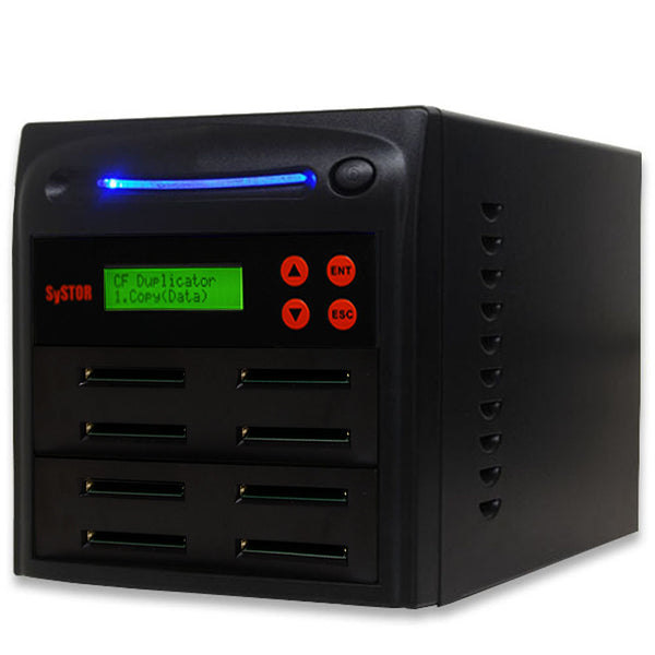SySTOR 1:7  Multiple Compact Flash CF Memory Card Duplicator / Sanitizer - (SYS-CFD-7) - Duplicator Depot