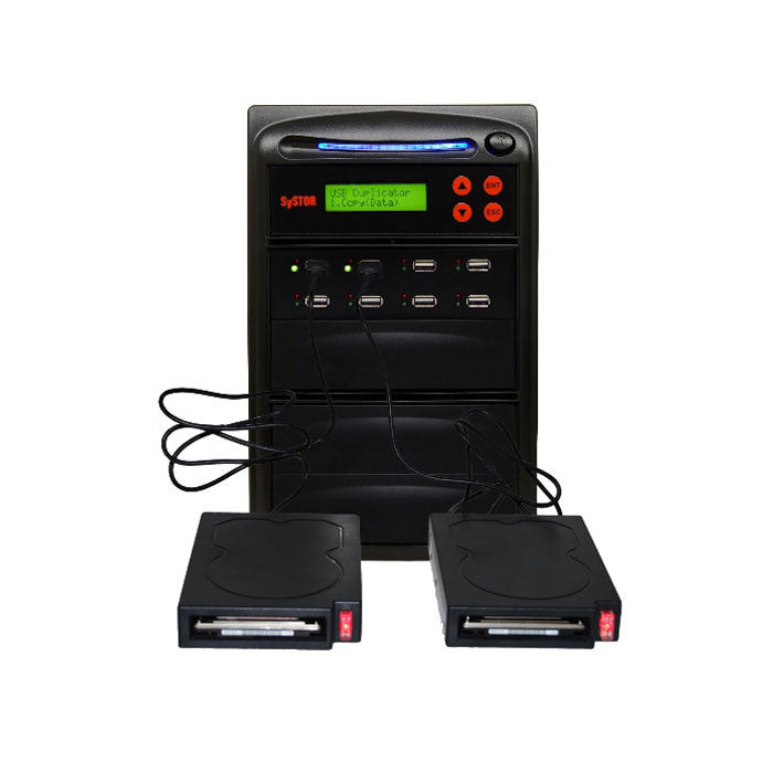 Systor 1 to 7 HDD/SSD Duplicator for Portable USB-Powered External Hard Drives & USB Flash Drives - SYS07EXH - Duplicator Depot