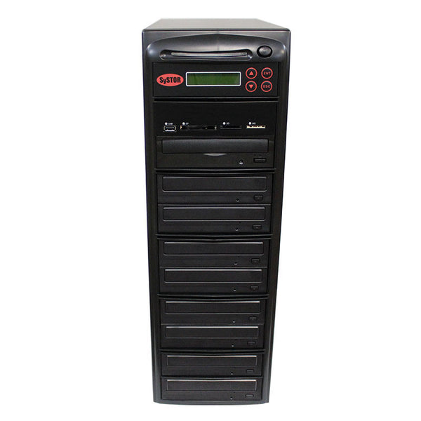 Systor MultiMedia Center - Flash Memory Drive (USB/SD/CF/MS/MMC) to Disc Backup + 1 to 8 SATA CD/DVD Duplicator - Duplicator Depot