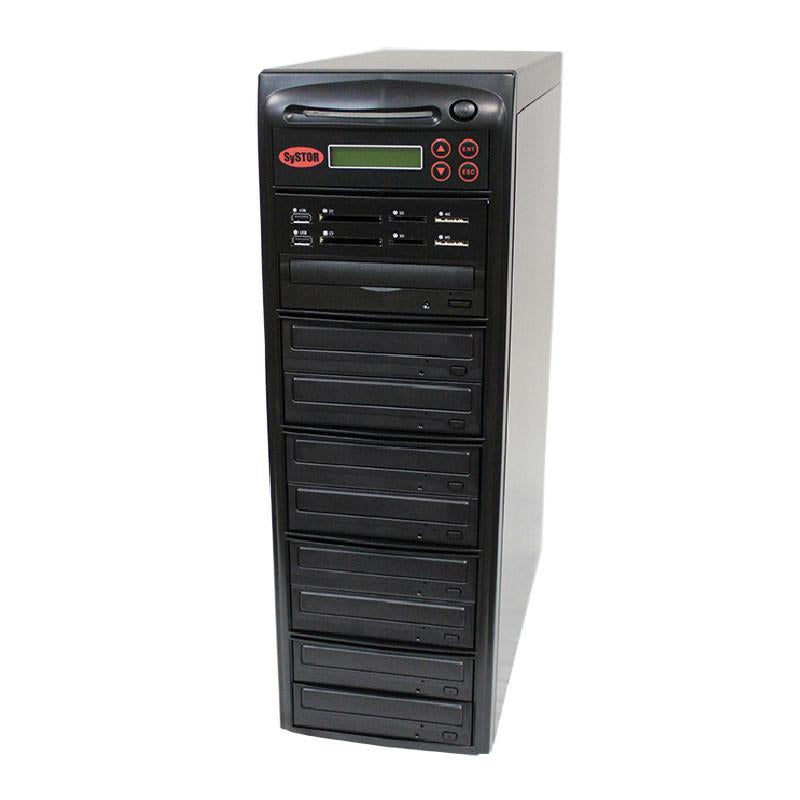 Systor MultiMedia Center PLUS - Flash Memory Drive (USB/SD/CF/MS/MMC) to Disc Backup + 1 to 8 SATA CD/DVD Duplicator - PMBC-P-08 - Duplicator Depot