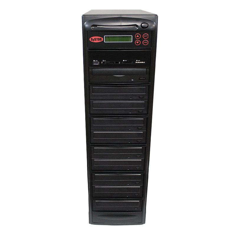 SySTOR 1:9 CD DVD Duplicator + USB/SD/CF to Disc Copier Tower (PMBC-9) - Duplicator Depot
