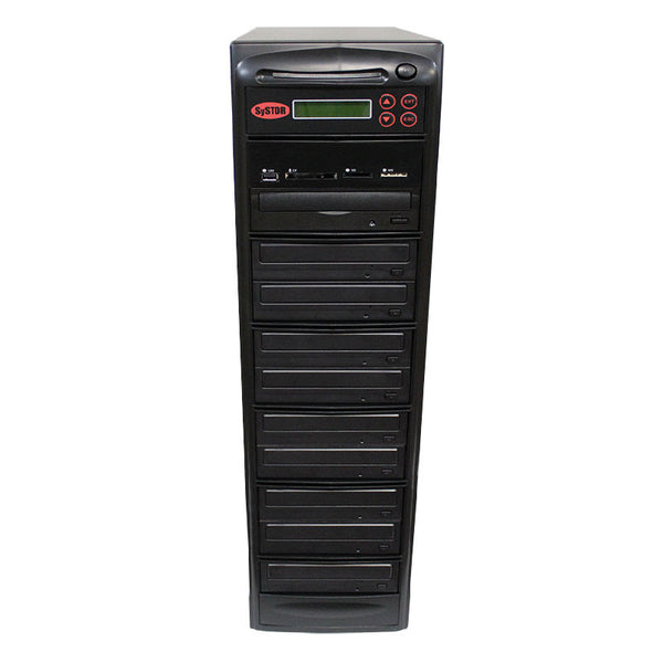 Systor MultiMedia Center - Flash Memory Drive (USB/SD/CF/MS/MMC) to Disc Backup + 1 to 9 SATA CD/DVD Duplicator - Duplicator Depot