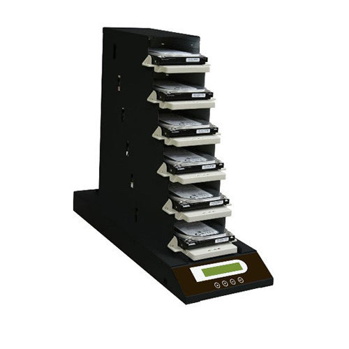 SySTOR 1: 5 Expandable SATA Hard Disk Drive Daisy Chain Duplicator / Copier / Sanitizer / Eraser (138MB/sec) (5HDD-DC) - Duplicator Depot