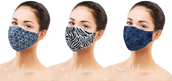 Amba7 Washable Reusable Breathable Cloth Face Mask - Machine Washable Double Layer Protection, Unisex (US In stock) (3pc - Woven Series, 3-Pack)