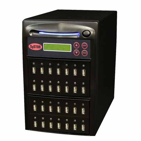 SySTOR 1:27 Multiple USB Thumb Drive Duplicator / USB Flash Card Sanitizer - (SYS-USBD-27) - Duplicator Depot