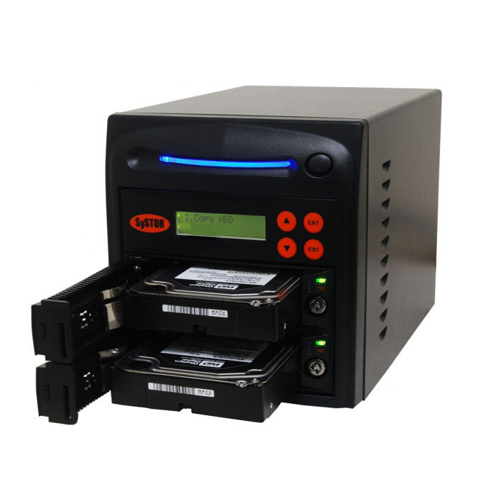 SySTOR 1:1 SATA Hard Disk Drive / Solid State Drive (HDD/SSD) Clone Duplicator/Sanitizer - High Speed (150MB/sec) (SYS201HS) - Duplicator Depot