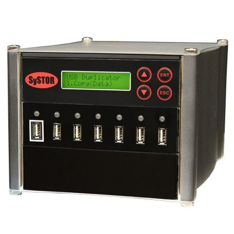 Systor 1 to 6 Multiple USB Thumb Drive Duplicator & Sanitizer (up to 2GB Per Minute) - SYS-USBD-6 - Duplicator Depot