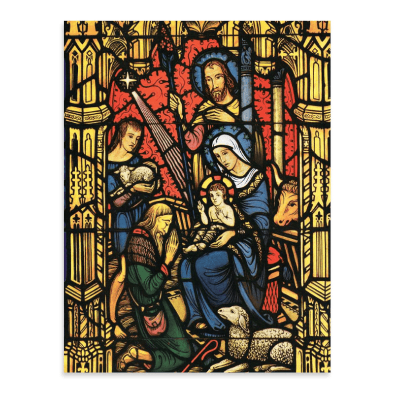 Adoration Of The Lord Full Notecards Holiday Notecards Galison