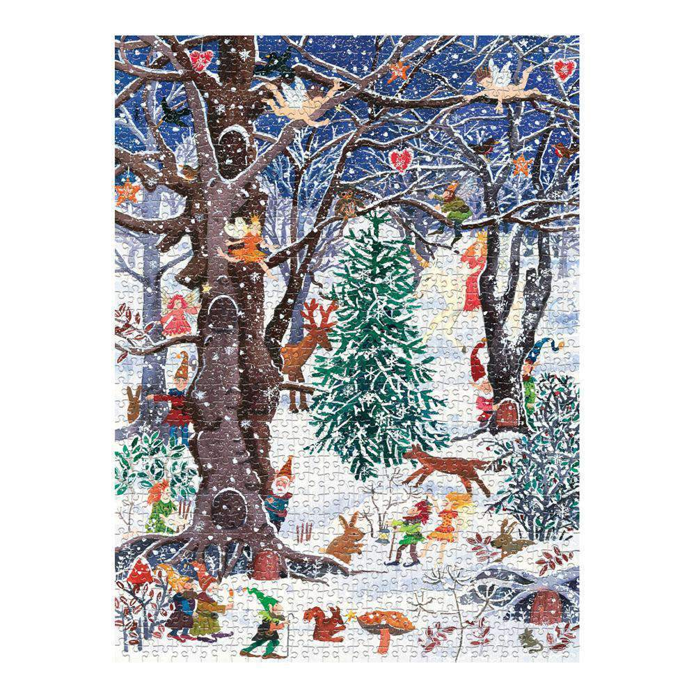 Advent Forest Square Boxed 1000 Piece Puzzle Holiday 1000 Piece Puzzles Galison