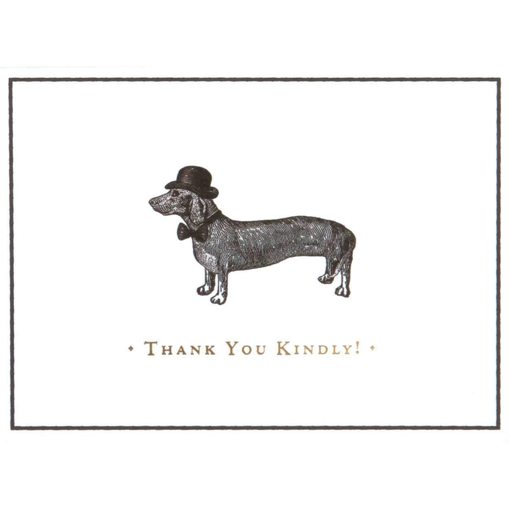 Alice Scott Vintage Prints Dapper Dachshund Luxe Thank You Notes Thank You Cards Galison