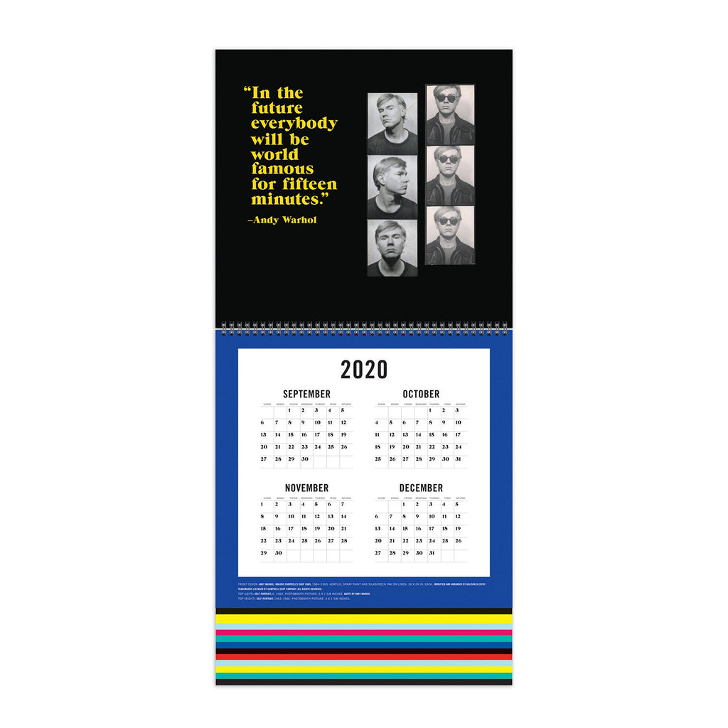 Andy Warhol 2021 Tiered Wall Calendar Calendars Galison