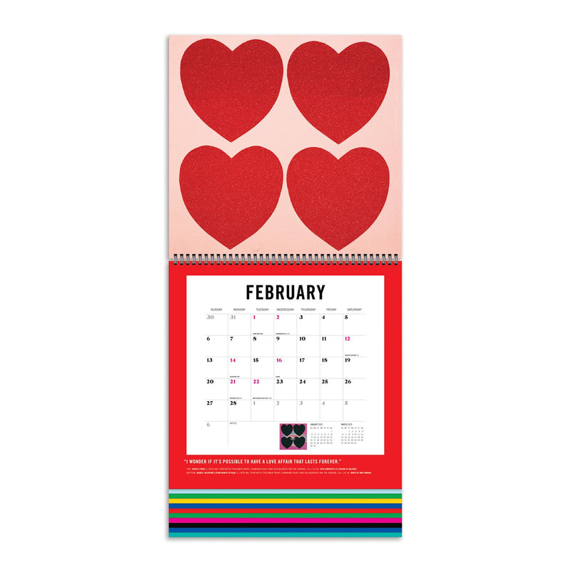 Andy Warhol 2022 Tiered Wall Calendar Calendars Andy Warhol Collection