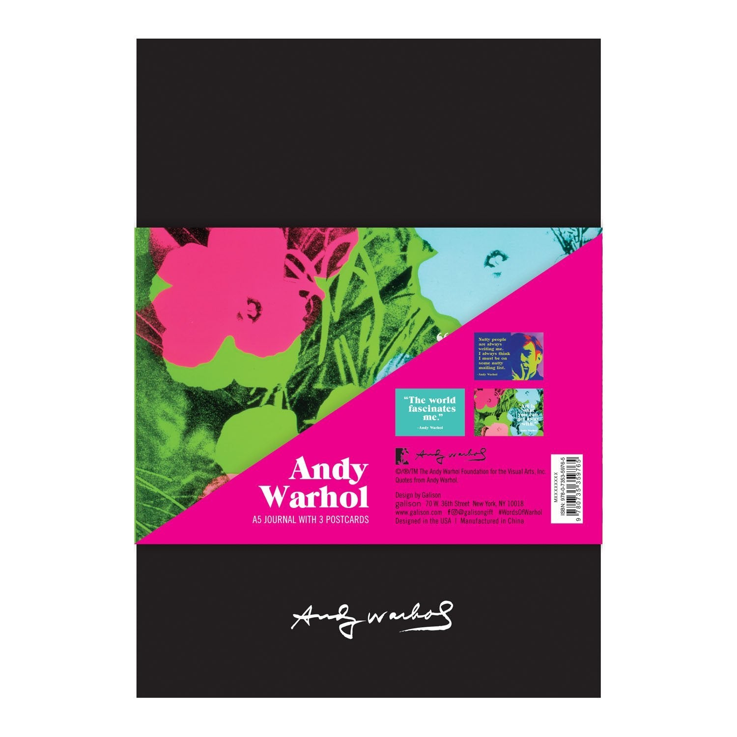 Andy Warhol Banana Journal with Postcard Set Journals and Notebooks Galison